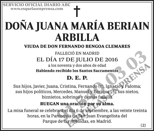 Juana María Beriain Arbilla